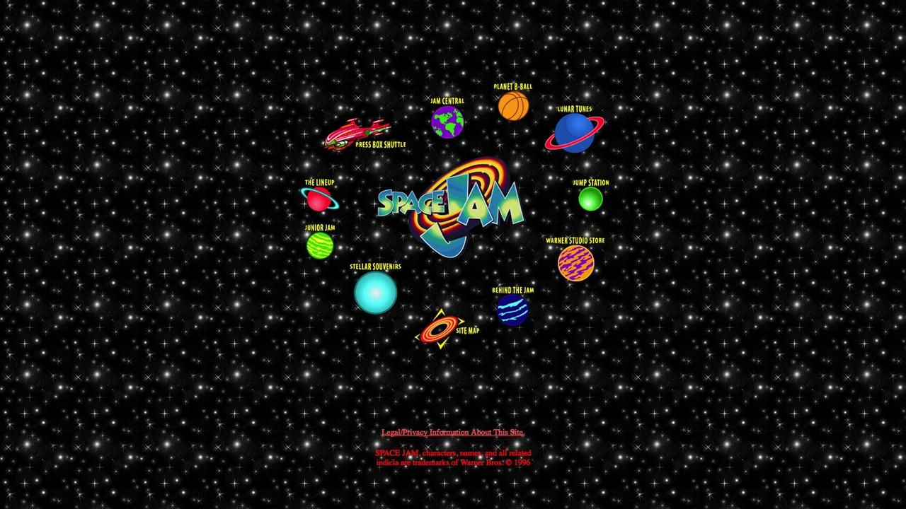 Space Jam Webseite