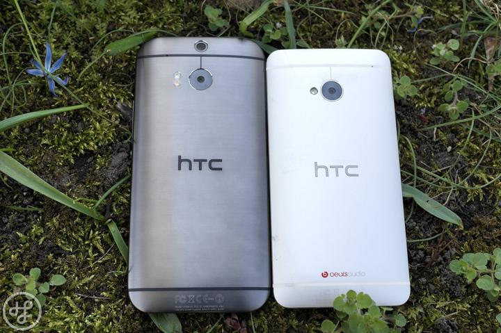 HTC One M8 vs M7 hinten