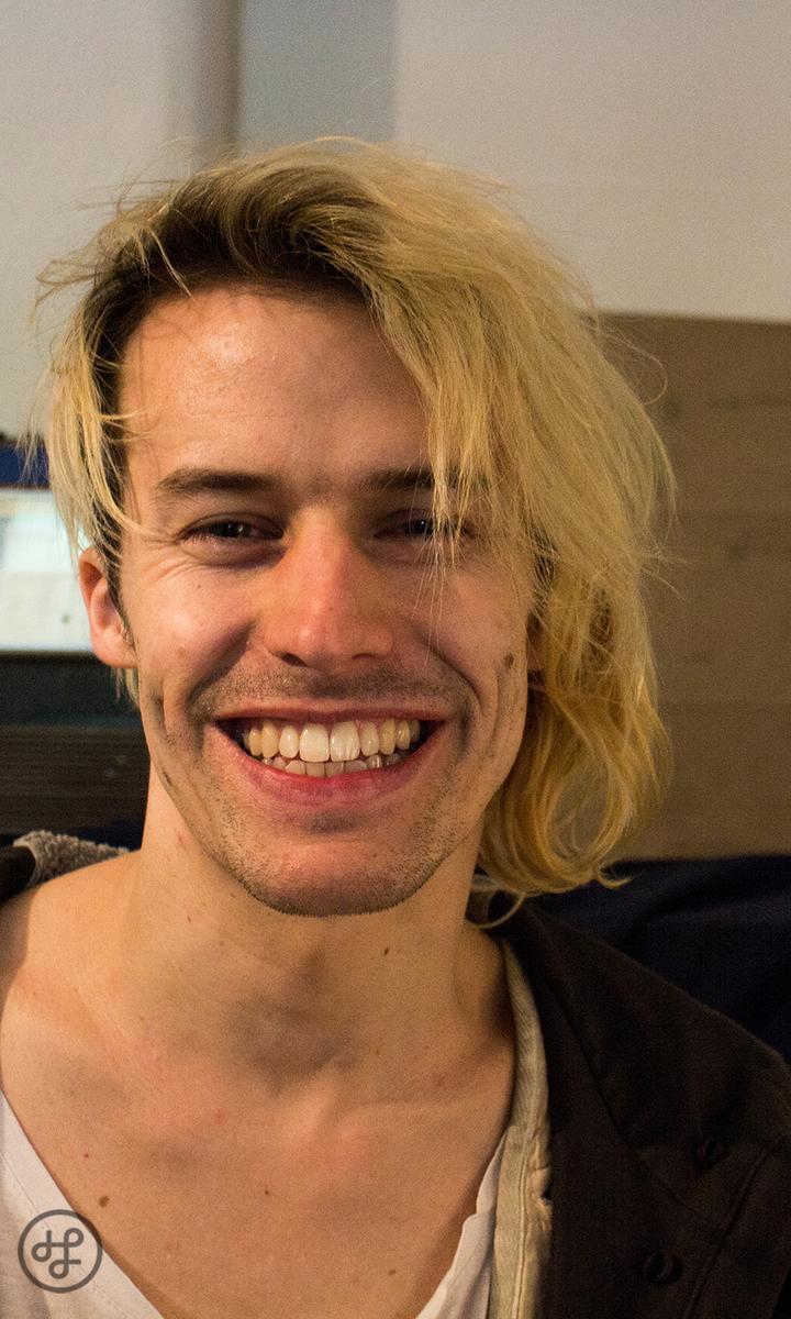 Tobias Jundt - gut gelaunt im Studio