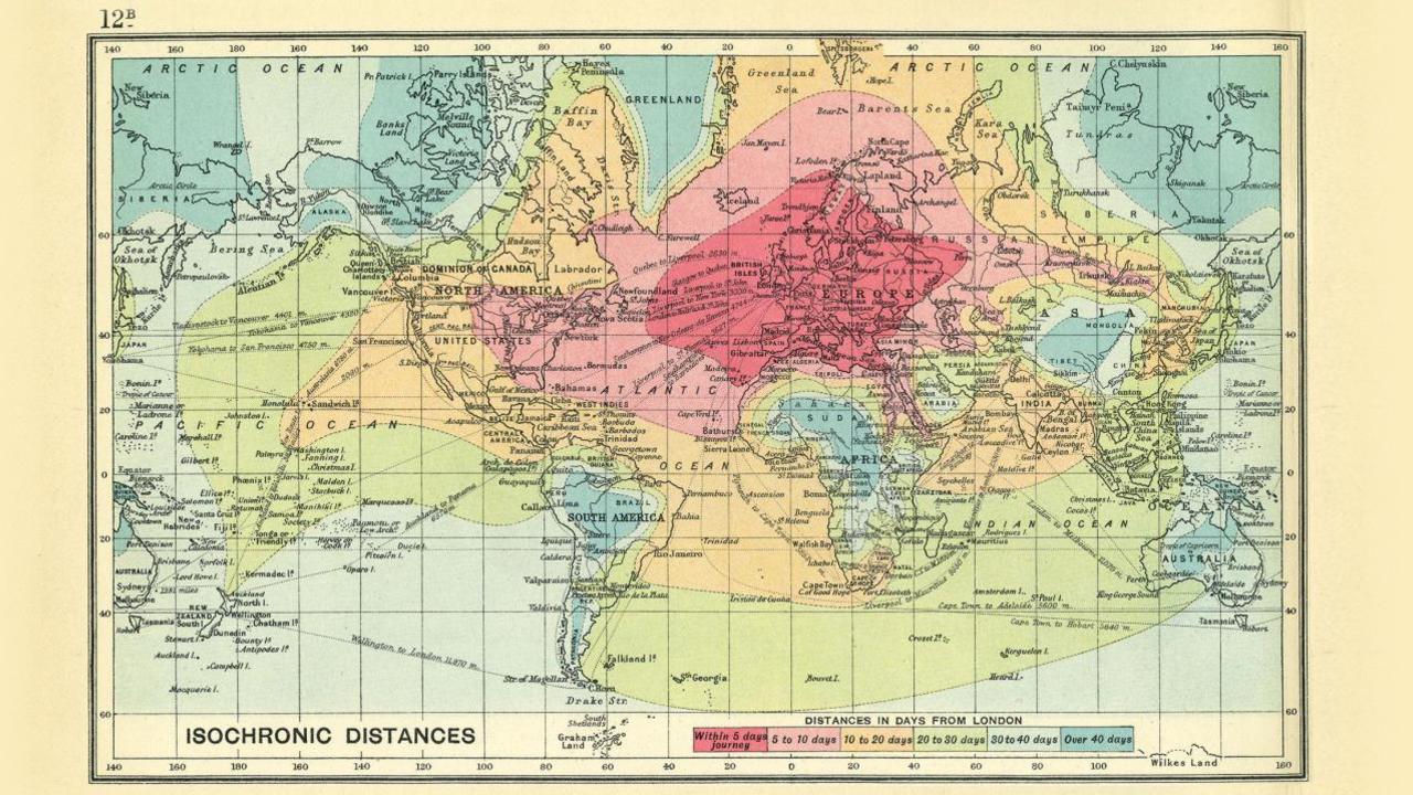Gute Karten Reisezeiten vor 100 Jahren