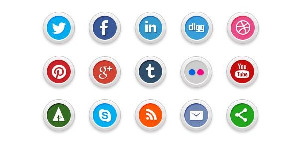 social media icons leseliste