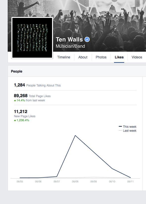 Facebook Screen Shot Ten Walls Likes