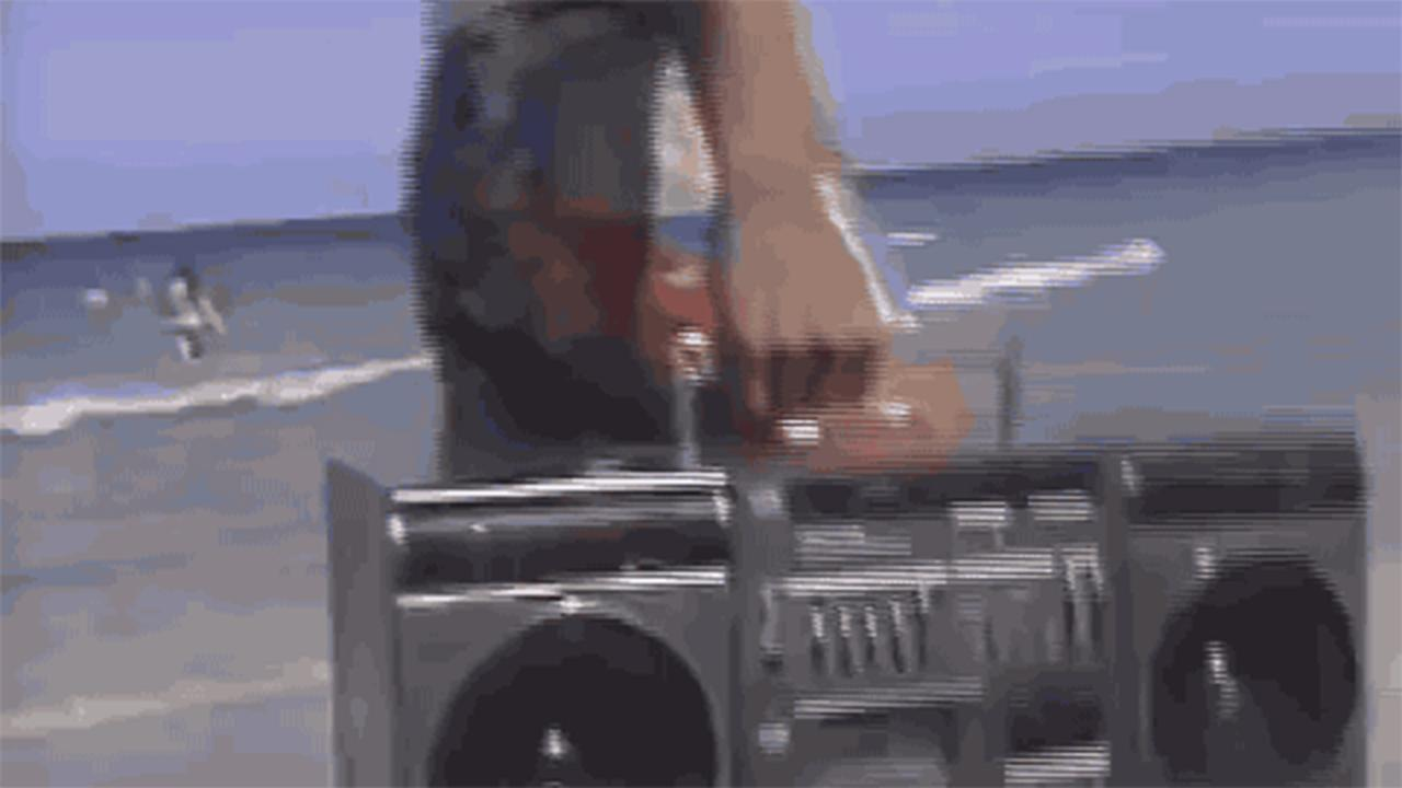 Ghettoblaster Beach Walkman Lead