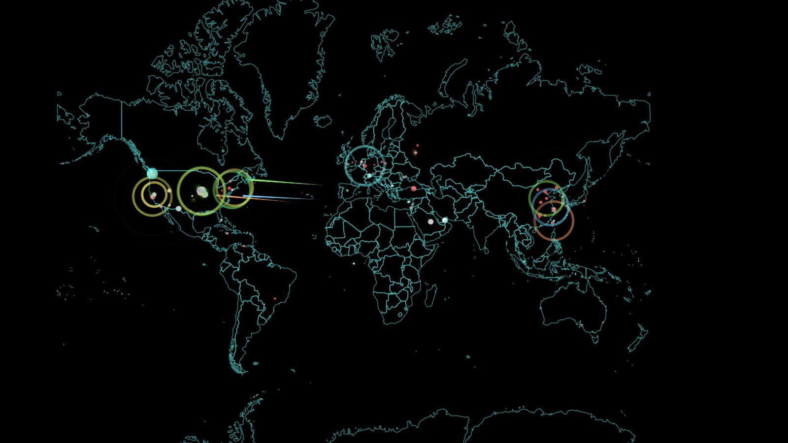 Cyber war Norse Map Start