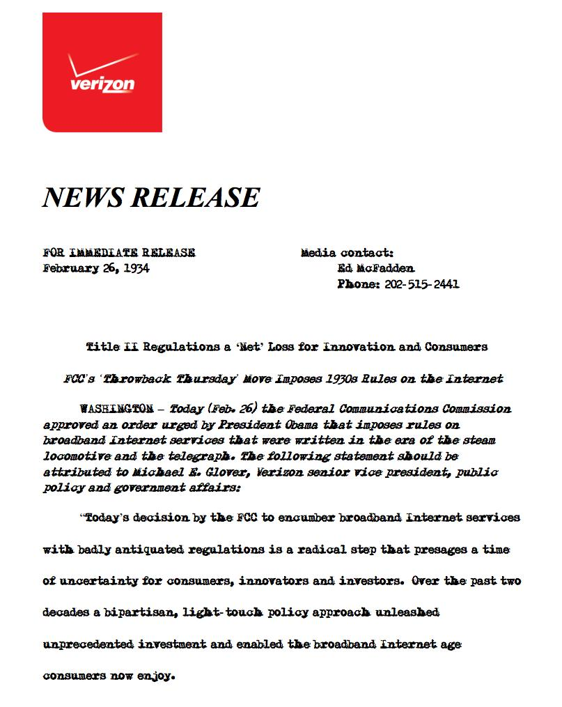 udc 15 verizon news release