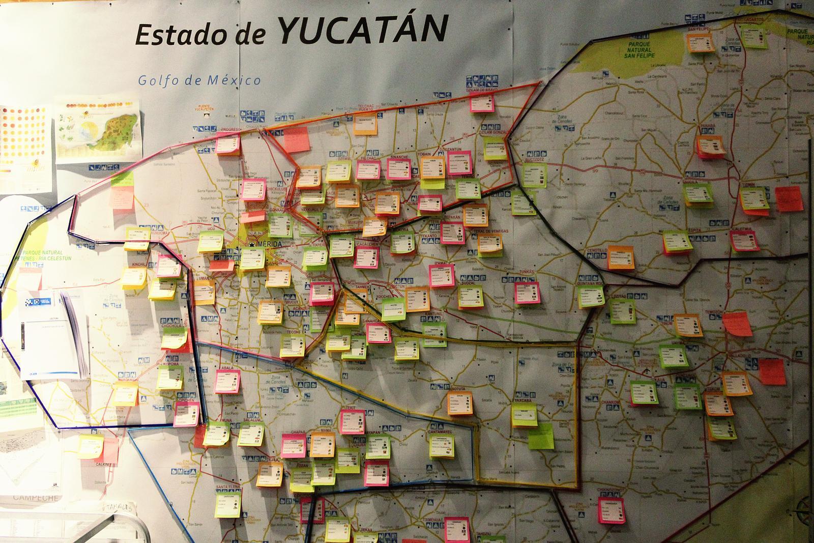 Mexiko Kuuk Landkarte