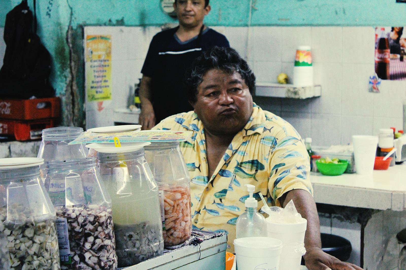 Mexiko Merida Markt Ceviche