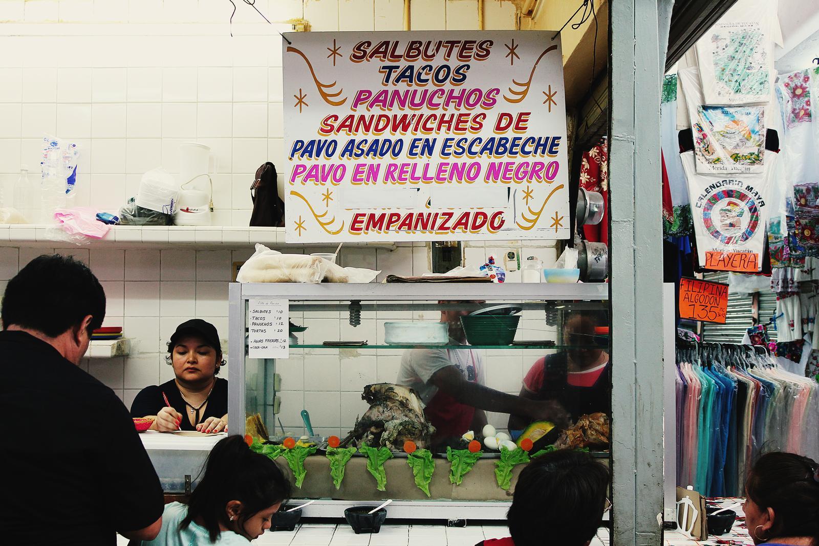 Mexiko Merida Markt Tacos