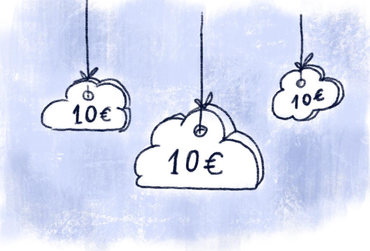 Hängengeblieben 2016 10 Euro Wolke Illu