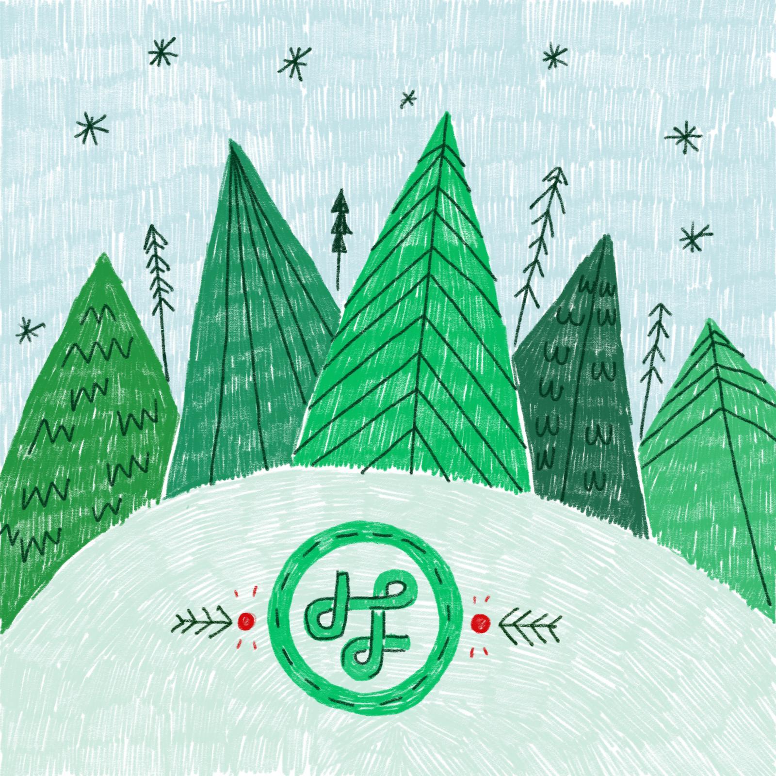 Hängengeblieben 2016 Weihnachtskarte