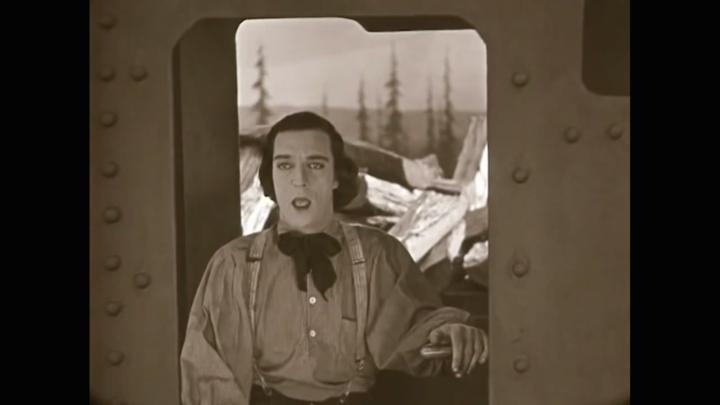Buster Keaton Train LL14022016