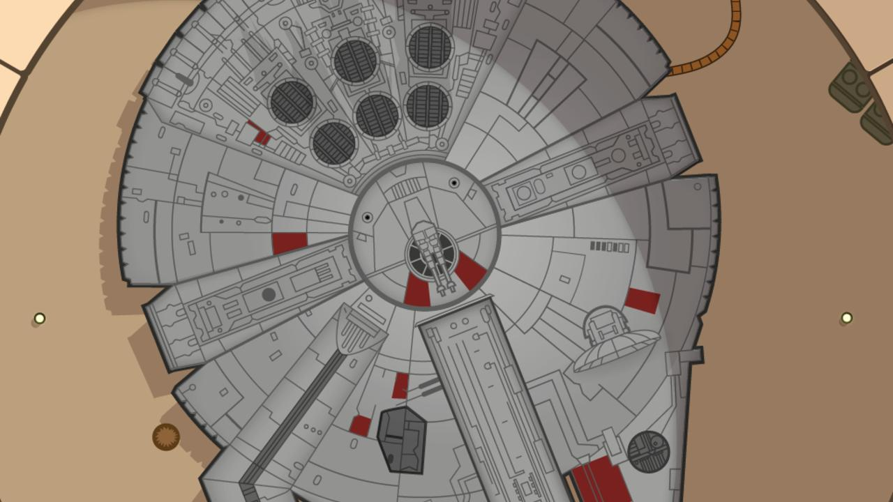 Star Wars Infografik Scoll Start