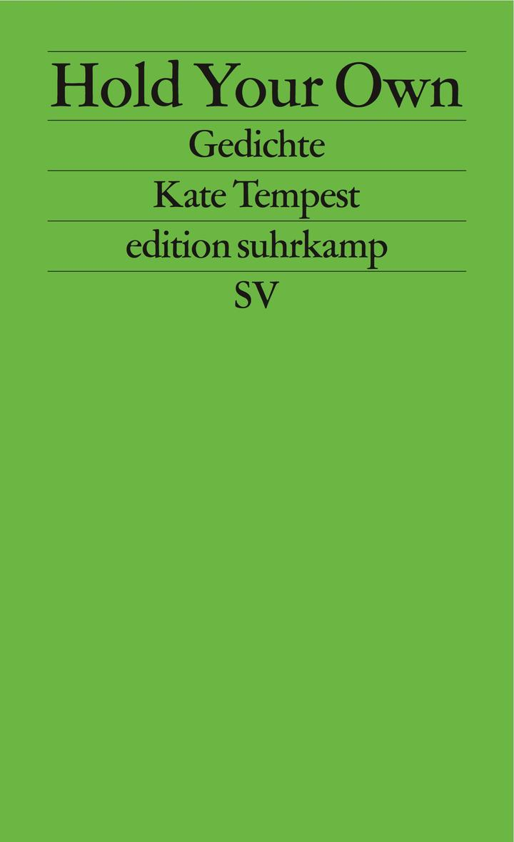 Kate Tempest Hold Your Own Cover Original