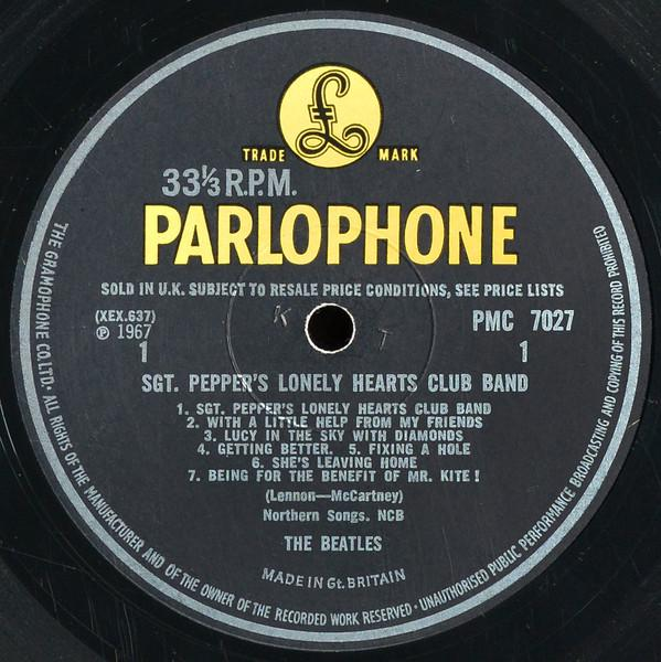 Sgt. Pepper's Lonely Hearts Club Band - Label 1