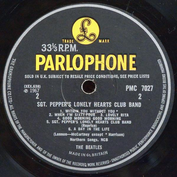 Sgt. Pepper's Lonely Hearts Club Band - Label 2