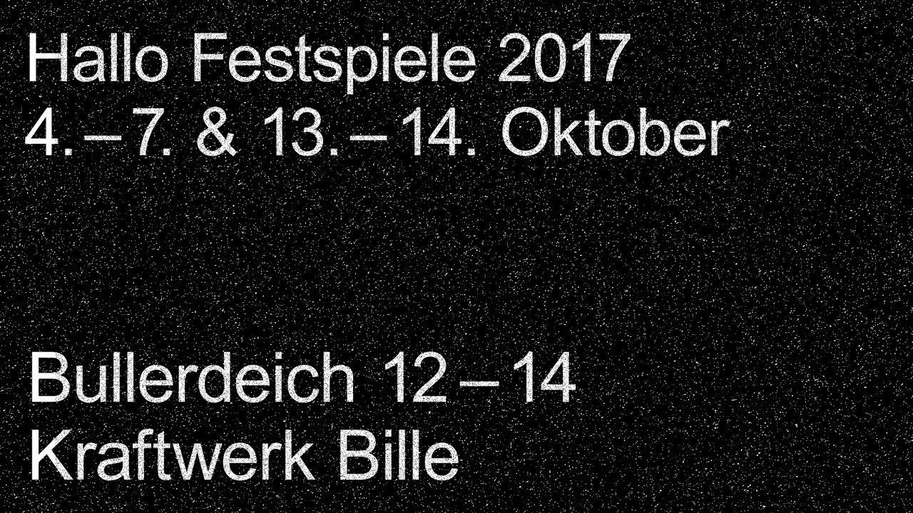 Hallo Festspiele 2017 Flyer