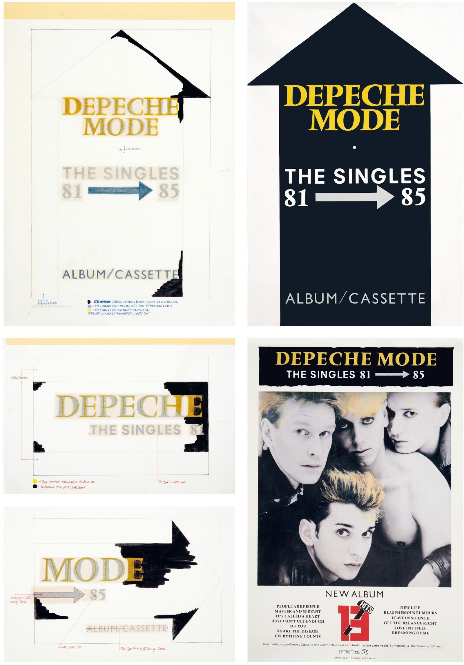 Mute Buch Depeche Mode Singles 81-85 Entwürfe