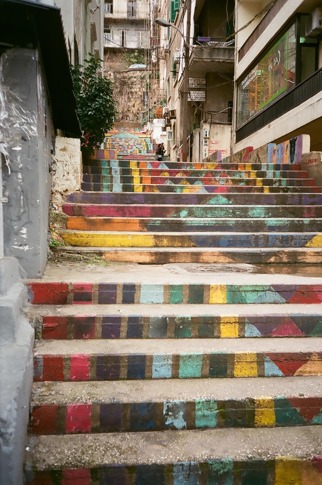 Beirut Bunte Treppe