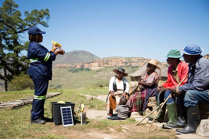 Solarzelle Nutzertraining