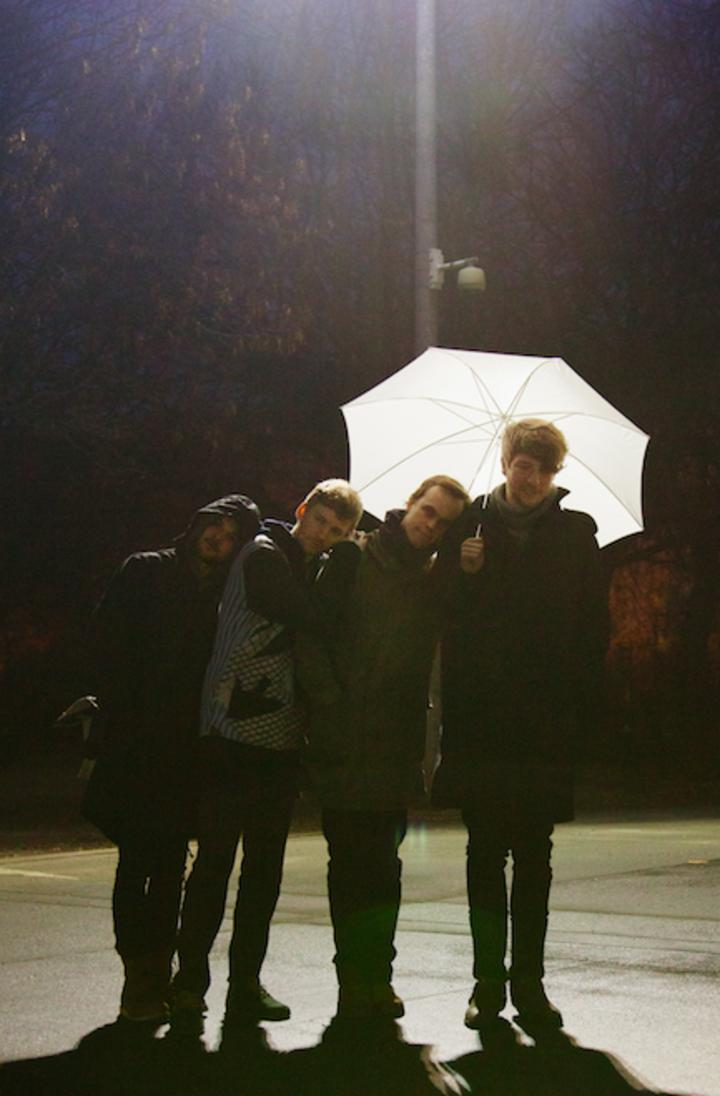 2012 — Nils Frahm, Ólafur Arnalds, Peter Broderick and Robert Raths in Mauerpark Berlin (photo by Kai von Rabenau)