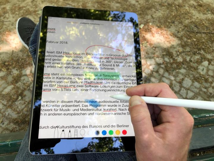 Review Apple iPad 2018 03 - smart annotations