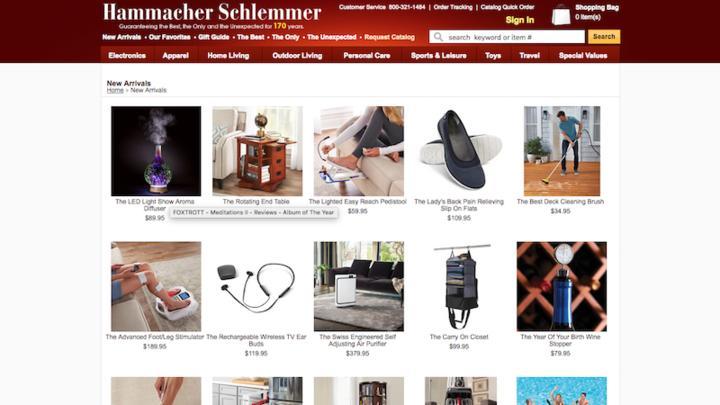 Hammacher Schlemmer Screenshot