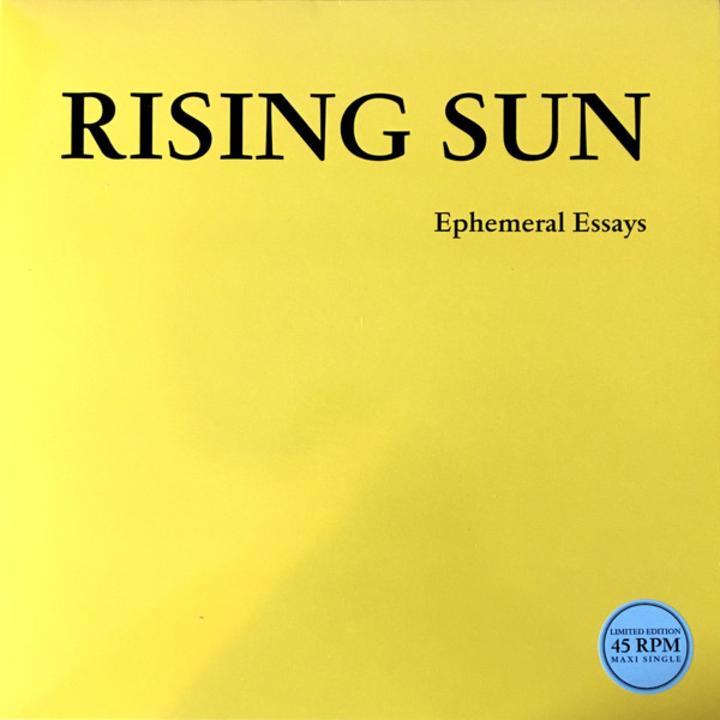 Rising Sun Ephemeral Essays Artwork