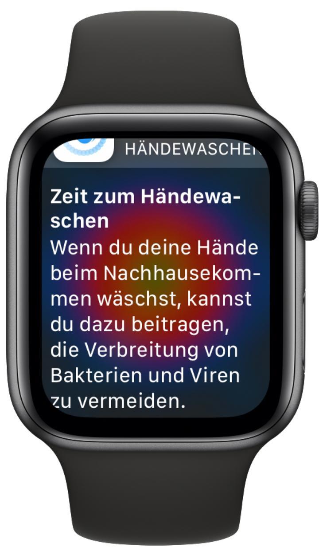 Apple Watch Series 6 Hände Waschen