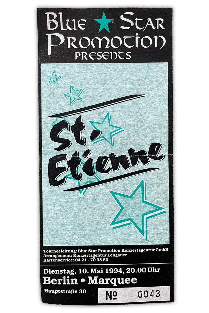 Konzerterinnerungen Saint Etienne Berlin 1994 full