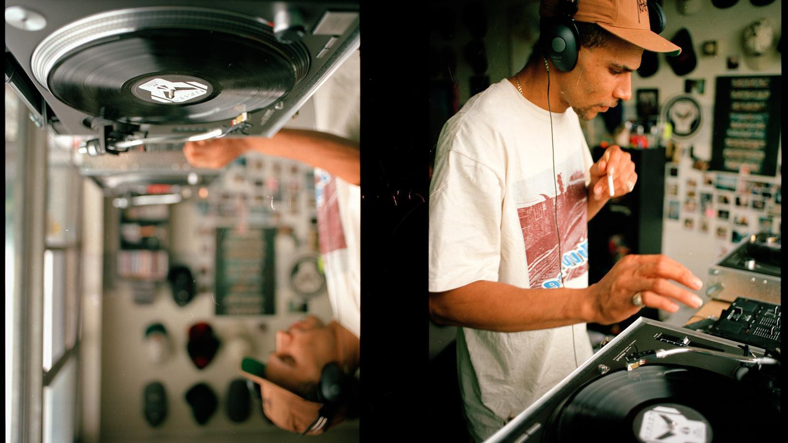 Goldie DJing