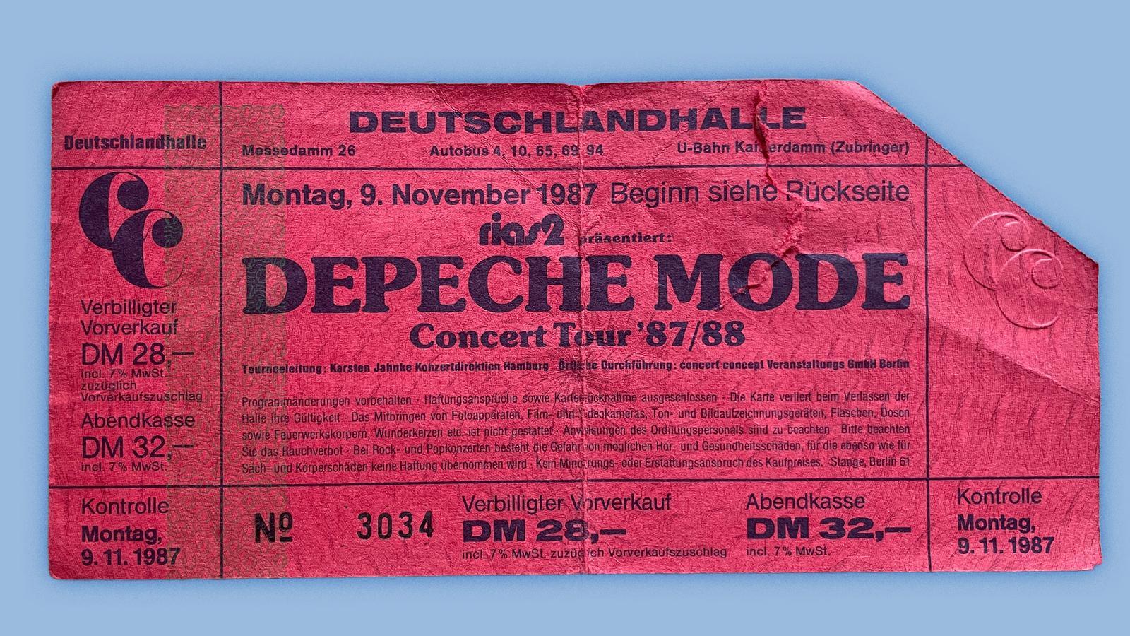 Konzerterinnerungen-Depeche Mode-1987