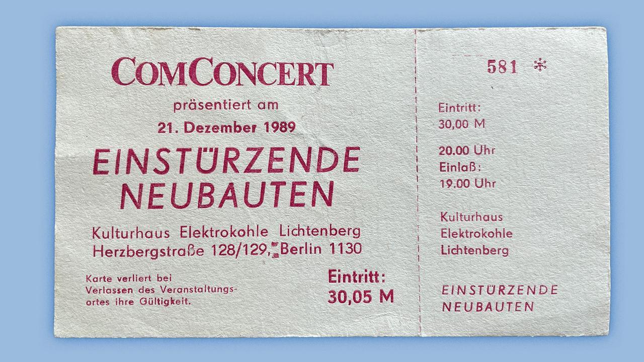 Konzerterinnerungen Neubauten 1989 - Banner