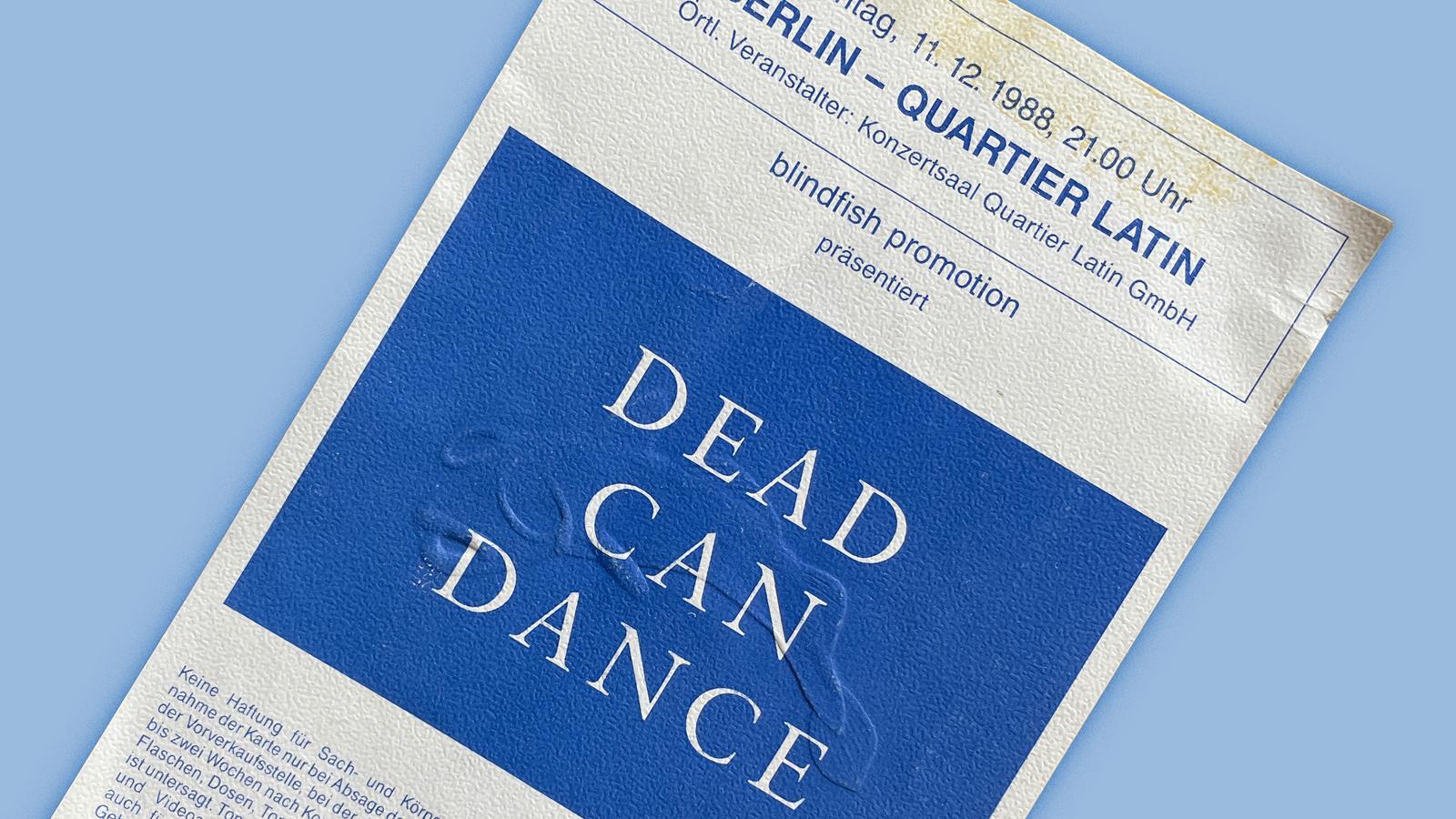 Konzerterinnerungen - Dead Can Dance - lede