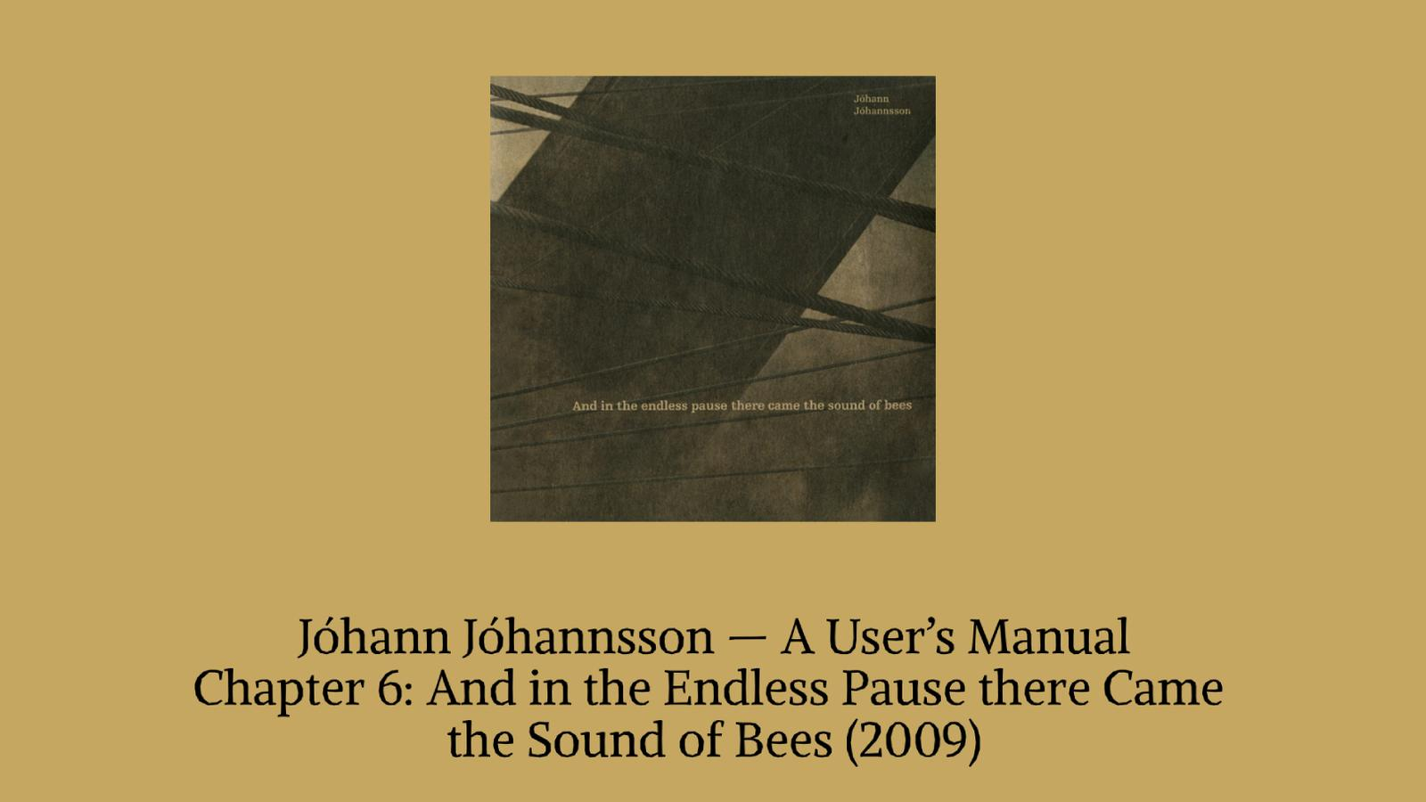 Johann Johannson Bee Banner