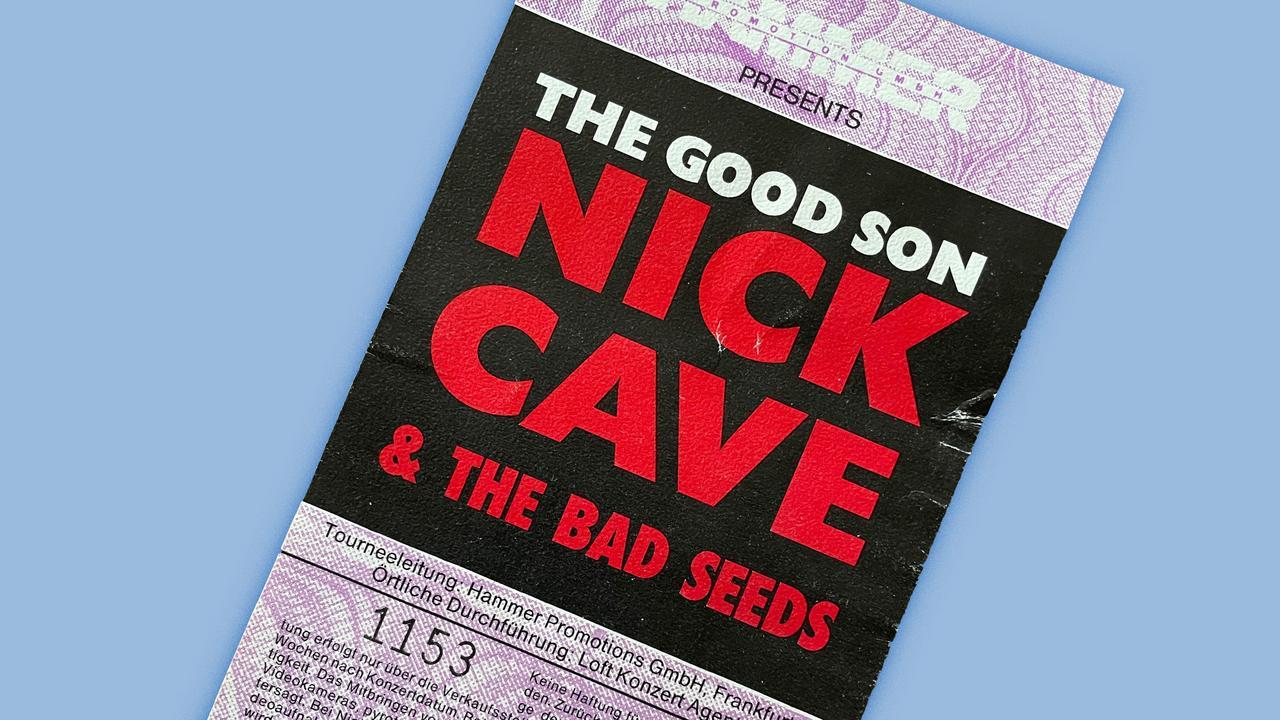 Konzerterinnerungen Nick Cave 1990 Berlin Eintrittskarte Tempodrom