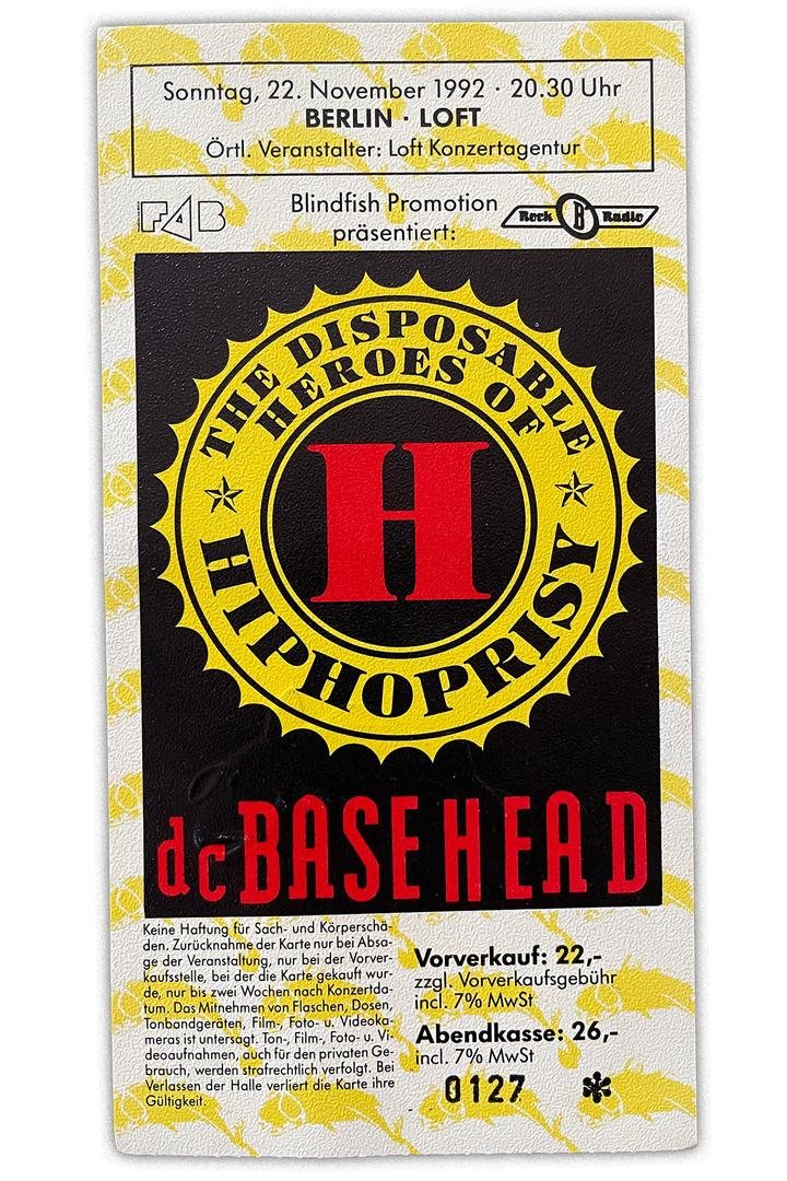 The Disposable Heroes Of HipHoprisy Berlin 1992 Ticket